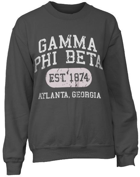Gamma Phi Beta Athletic Department Sweatshirt-Adam Block Design