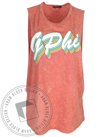 Gamma Phi Beta Colorful Muscle Tank-Adam Block Design