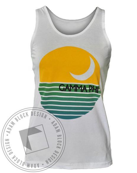Gamma Phi Beta Crescent Fly Tank-Adam Block Design