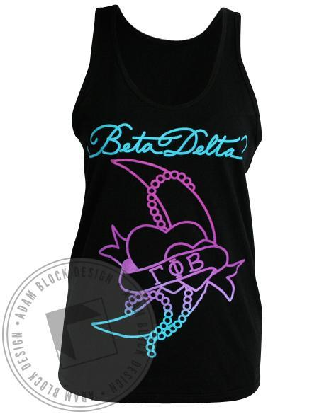 Gamma Phi Beta Crescent Letter Tank-Adam Block Design