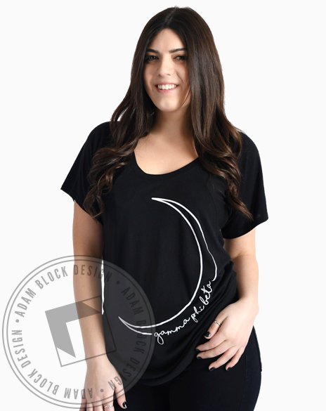 Gamma Phi Beta Crescent Moon Flowy Tee-Adam Block Design