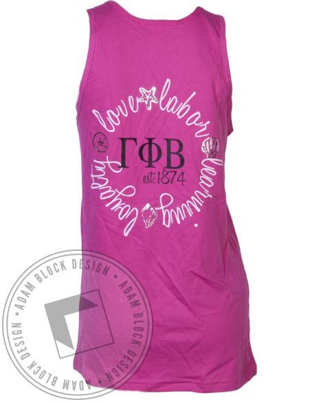 Gamma Phi Beta Destination Tank-Adam Block Design