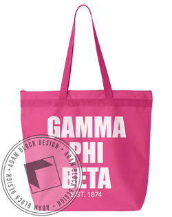 Gamma Phi Beta Established Tote-Adam Block Design