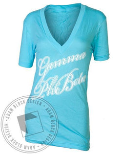 Gamma Phi Beta First Class V-Neck-Adam Block Design