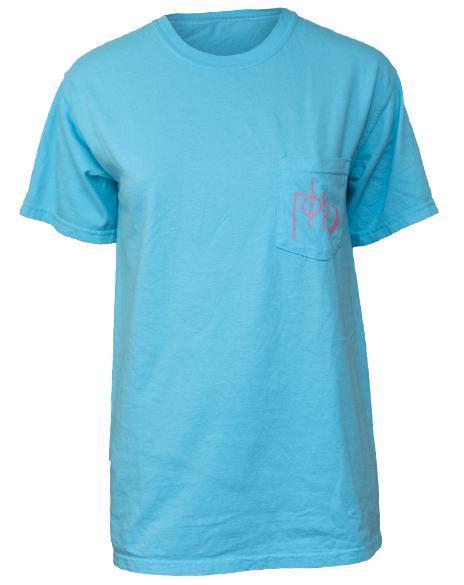 Gamma Phi Beta Fishing for a Cure Pocket Tee-gallery-Adam Block Design