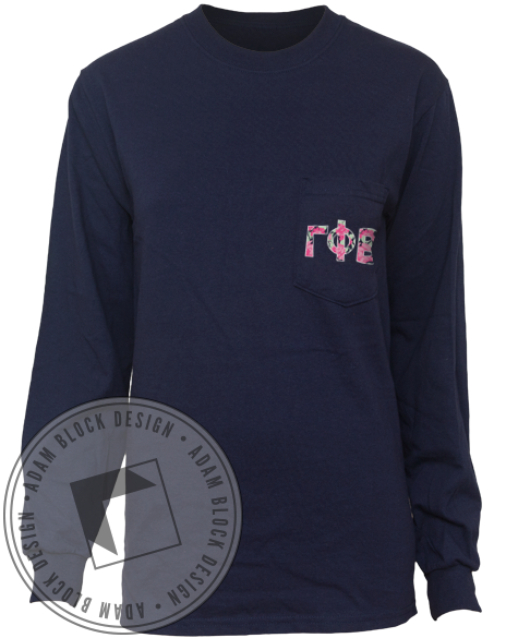 Gamma Phi Beta Floral Picking The Phinest Long Sleeve-Adam Block Design