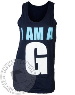 Gamma Phi Beta G Tank-Adam Block Design