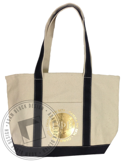 Gamma Phi Beta Gold Foil Circle Tote-Adam Block Design