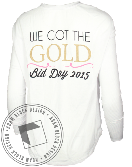 Gamma Phi Beta Gold Long Sleeve-Adam Block Design