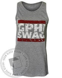 Gamma Phi Beta GPhi Swag Tank-Adam Block Design
