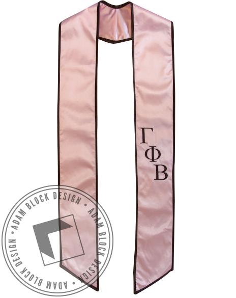 Gamma Phi Beta Graduation Stole-Adam Block Design