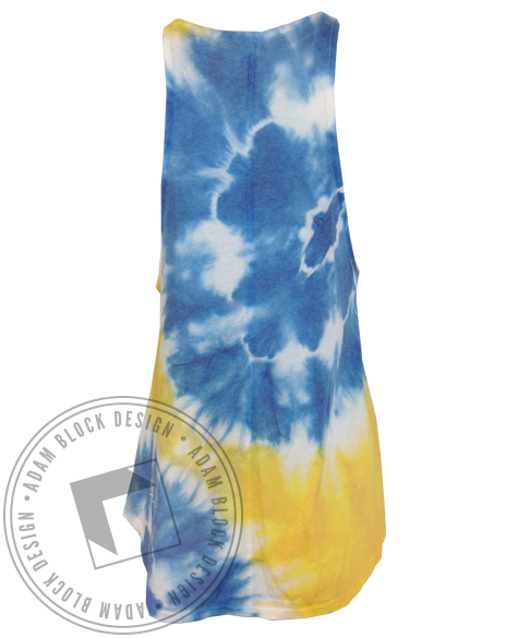 Gamma Phi Beta High Neck Tie Dye Tank-Adam Block Design