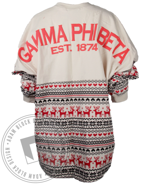 Gamma Phi Beta Holiday 1874 Spirit Jersey-Adam Block Design
