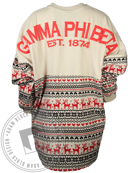 Gamma Phi Beta Holiday Spirit Jersey-Adam Block Design