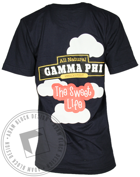Gamma Phi Beta Ice Cream Sweet Life Tshirt-Adam Block Design