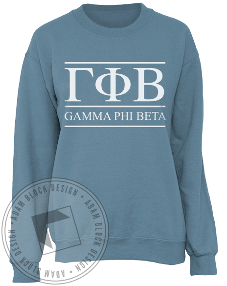 Gamma Phi Beta Letters Sweatshirt-Adam Block Design