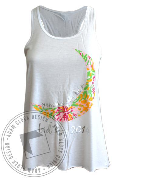Gamma Phi Beta Lucky You Floral Foil Bid Day Tank-Adam Block Design