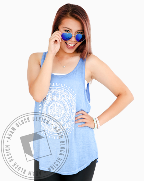 Gamma Phi Beta Mandala Acid Wash Tank-Adam Block Design