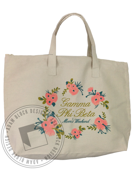 Gamma Phi Beta Mom's Day Tote-Adam Block Design