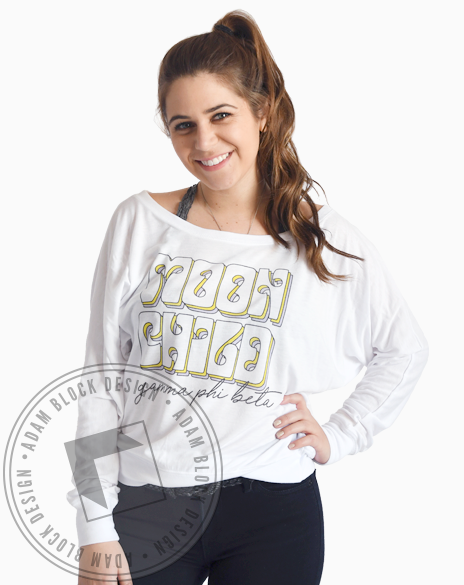 Gamma Phi Beta Moon Child Long Sleeve-gallery-Adam Block Design