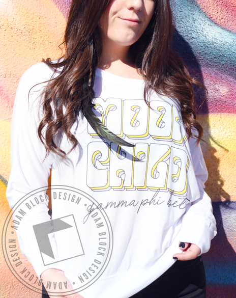 Gamma Phi Beta Moon Child Long Sleeve-Adam Block Design