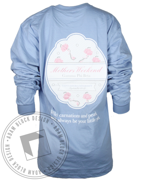 Gamma Phi Beta Mothers Weekend Longsleeve Shirt-Adam Block Design