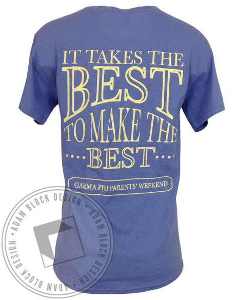 Gamma Phi Beta Parent's Weekend Tee-Adam Block Design