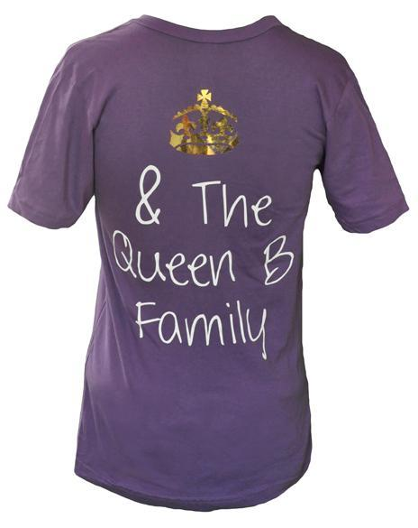 Gamma Phi Beta Queen B V-Neck-Adam Block Design