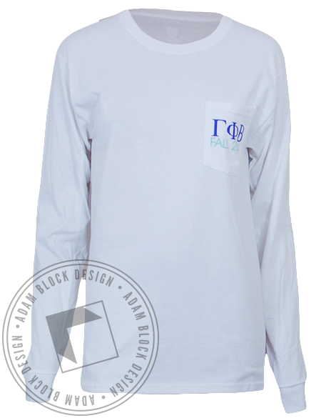 Gamma Phi Beta Semi Formal Long Sleeve-Adam Block Design