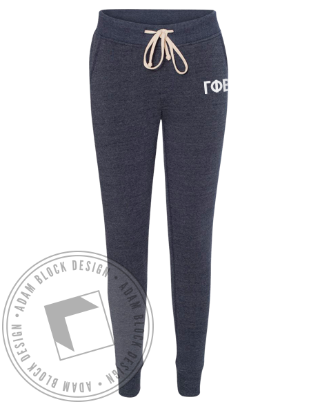 Gamma Phi Beta Simple Joggers-Adam Block Design