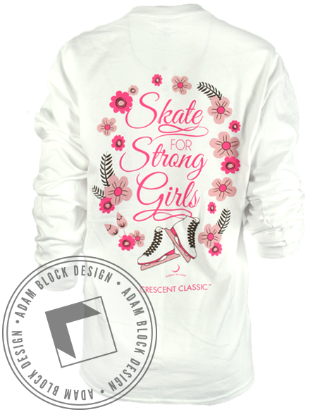 Gamma Phi Beta Skating For Strong Girls-Adam Block Design