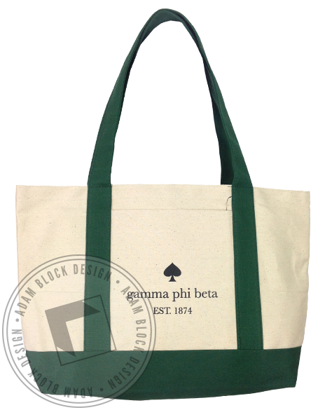 Gamma Phi Beta Spade Tote-Adam Block Design