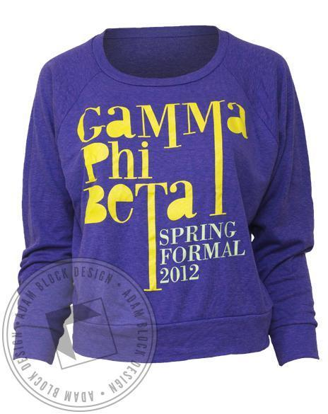 Gamma Phi Beta Spring Formal Pullover-Adam Block Design