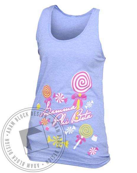 Gamma Phi Beta Sweets Tank-Adam Block Design