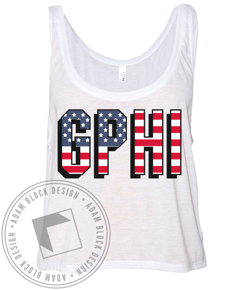 Gamma Phi Beta USA Tank-Adam Block Design