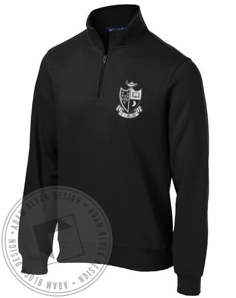 Gamma Phi Beta Virginia Halfzip-Adam Block Design