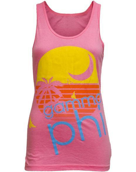 Gamma Phi Beta Welcome to Paradise Bid Day Tank-Adam Block Design