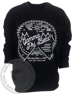 Gamma Phi Beta Winter Mountain Sweatshirt-Adam Block Design