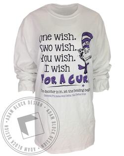 Gamma Phi Beta Wish For a Cure Longsleeve-Adam Block Design