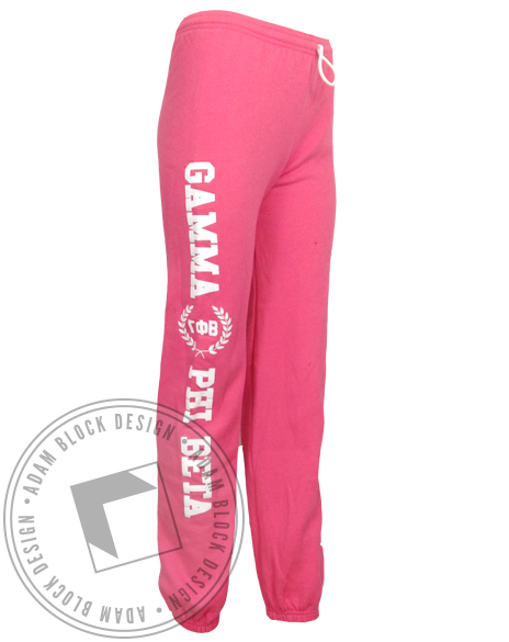 Gamma Phi Beta Wreath Sweatpants-Adam Block Design