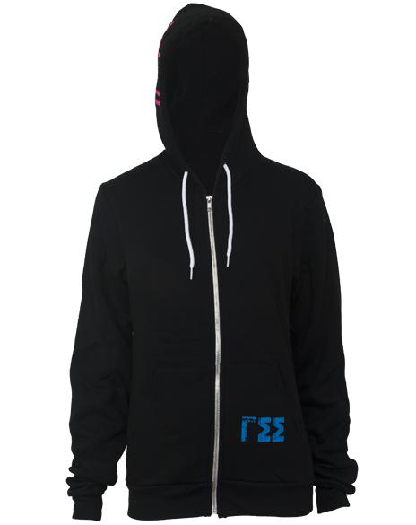 Gamma Sigma Sigma Crest Long Sleeve Hoodie-gallery-Adam Block Design