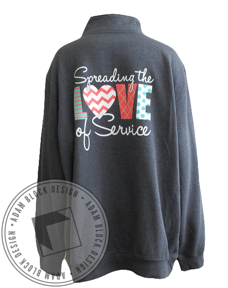 Gamma Sigma Sigma Long Sleeve Pullover-gallery-Adam Block Design