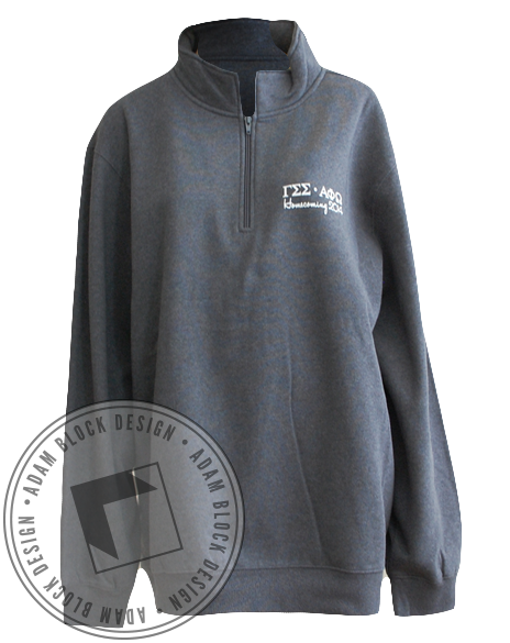 Gamma Sigma Sigma Long Sleeve Pullover-Adam Block Design