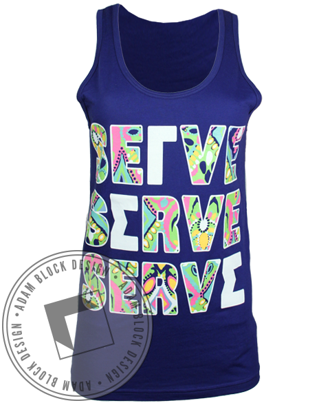 Gamma Sigma Sigma Serve Tank Top-Adam Block Design