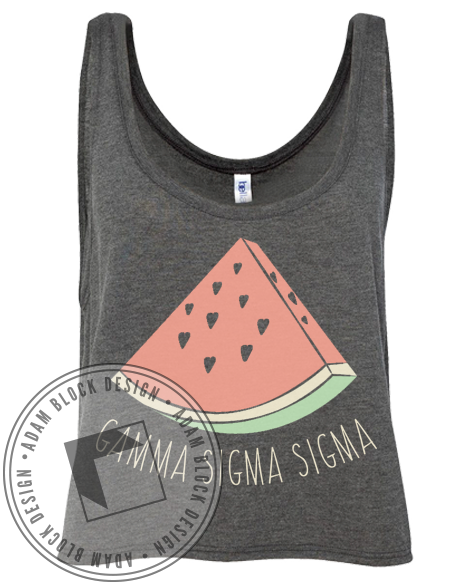 Gamma Sigma Sigma Watermelon Tank Top-Adam Block Design