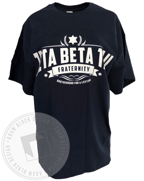 Zeta Beta Tau Brotherhood T-shirt-Adam Block Design