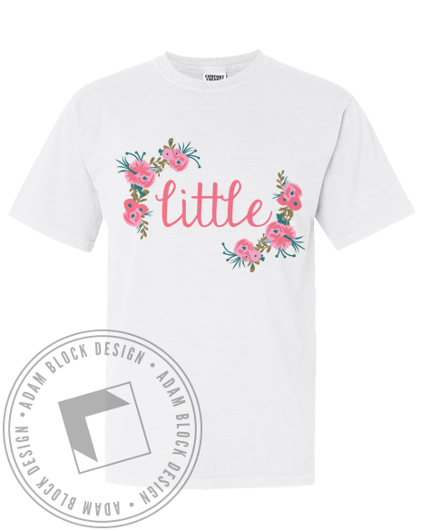 Greek Sorority Little Shirt-Adam Block Design