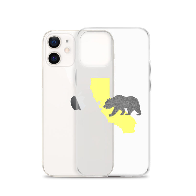 California Bear iPhone Case - Size: iPhone 11, iPhone 11 Pro, iPhone 11 Pro Max, iPhone 12, iPhone 12 mini, iPhone 12 Pro, iPhone 12 Pro Max, iPhone 7 Plus/8 Plus, iPhone 7/8, iPhone SE, iPhone X/XS, iPhone XR, iPhone XS Max - Adam Block Design