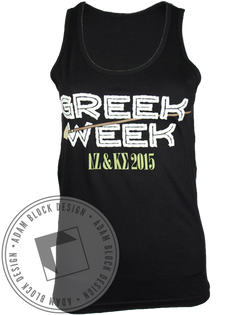 Jumanji Greek Week Tank-Adam Block Design