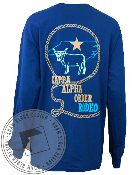 Kappa Alpha Order Rodeo Long Sleeve-gallery-Adam Block Design